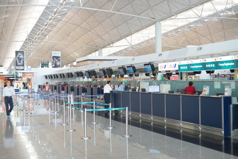 Incheckbalies in Hong Kong International Airport stock fotografie