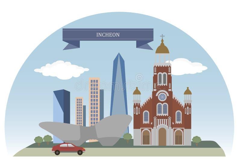 Incheon, Corée illustration stock
