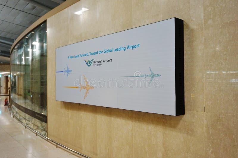 Incheon International Airport ICN in Seoul. INCHEON, SOUTH KOREA - Inside the terminal at Incheon International Airport ICN, the largest airport in South Korea stock photography