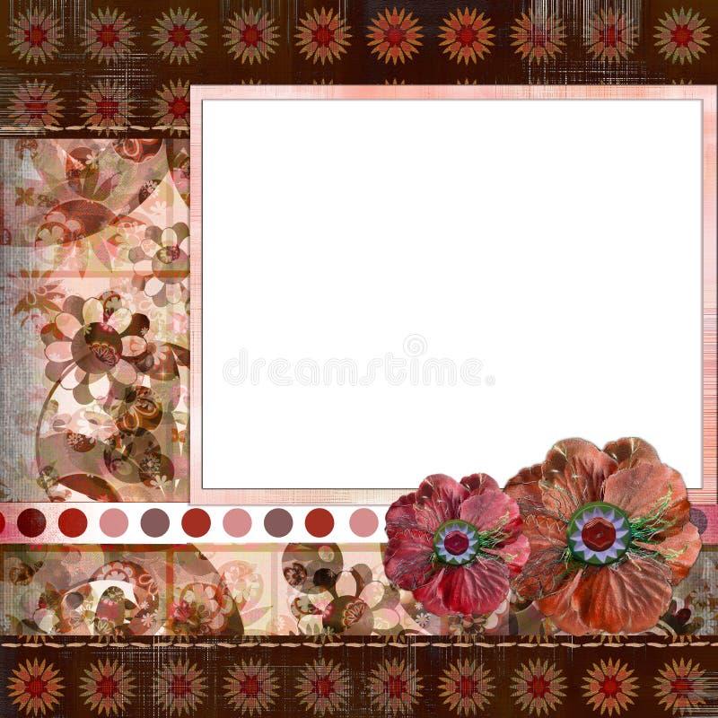 inches den bohemiska zigenaren för album 8x8 stil för orienteringssidascrapbook stock illustrationer