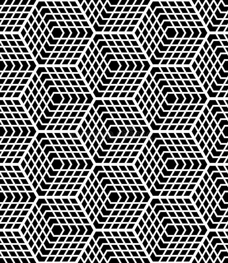 4 6 inches konst varje seamless visade tegelplattor för op modellupprepning Latticed struktur vektor illustrationer