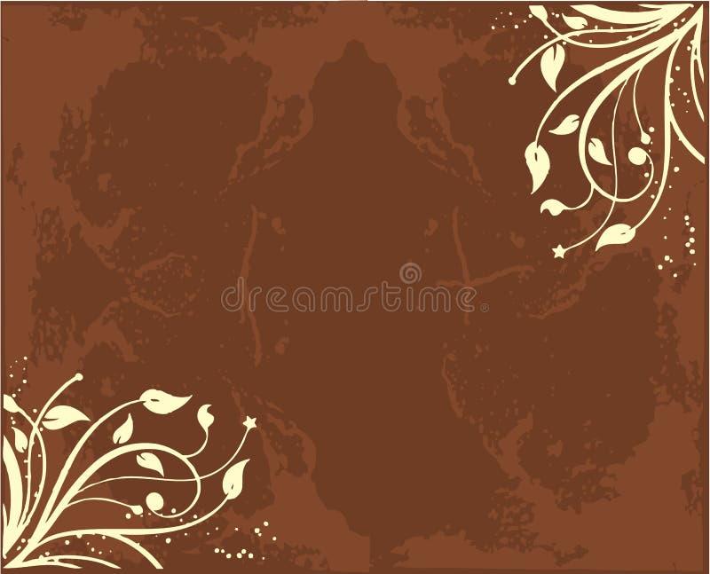 Inchiostro del fiore illustrazione vettoriale