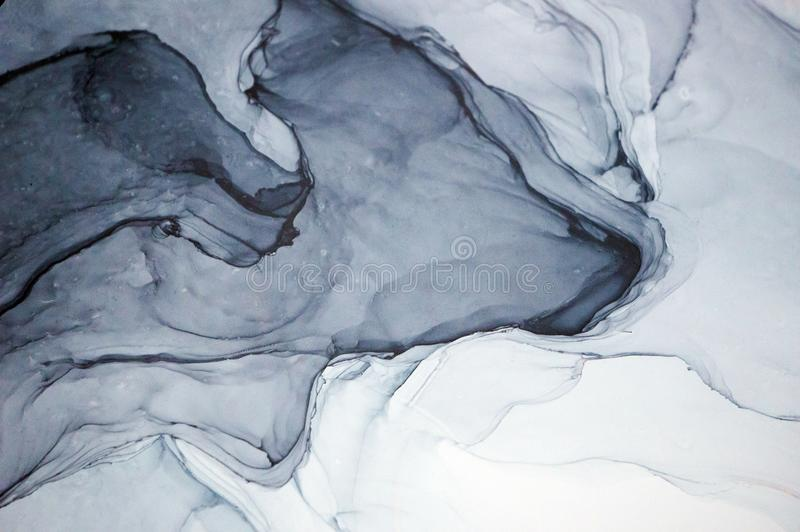 Inchiostro dell'alcool, pittura astratta fotografia stock