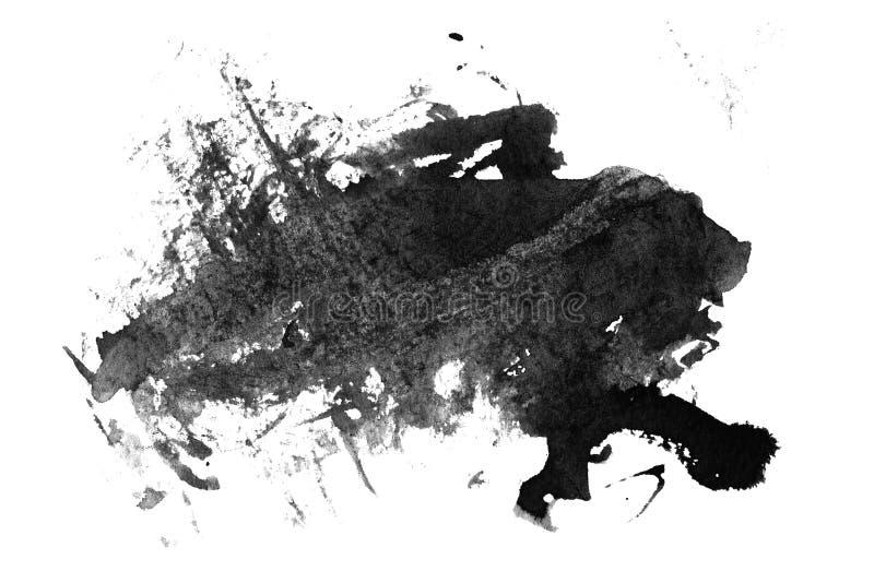Inchiostro nero spalmato su bianco illustrazione vettoriale