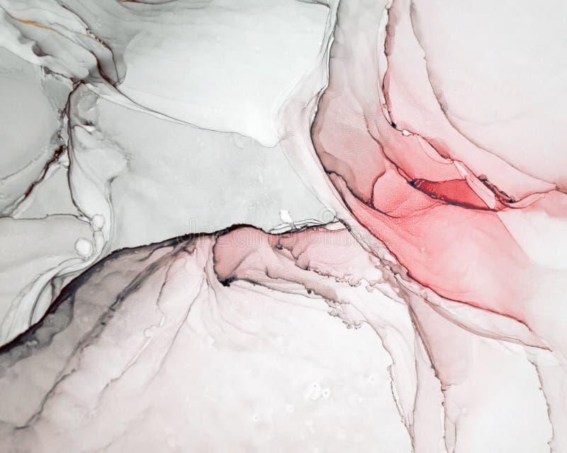 Inchiostro, pittura, astratta Primo piano della pittura Fondo astratto variopinto della pittura pittura ad olio Alto-strutturata  fotografie stock libere da diritti