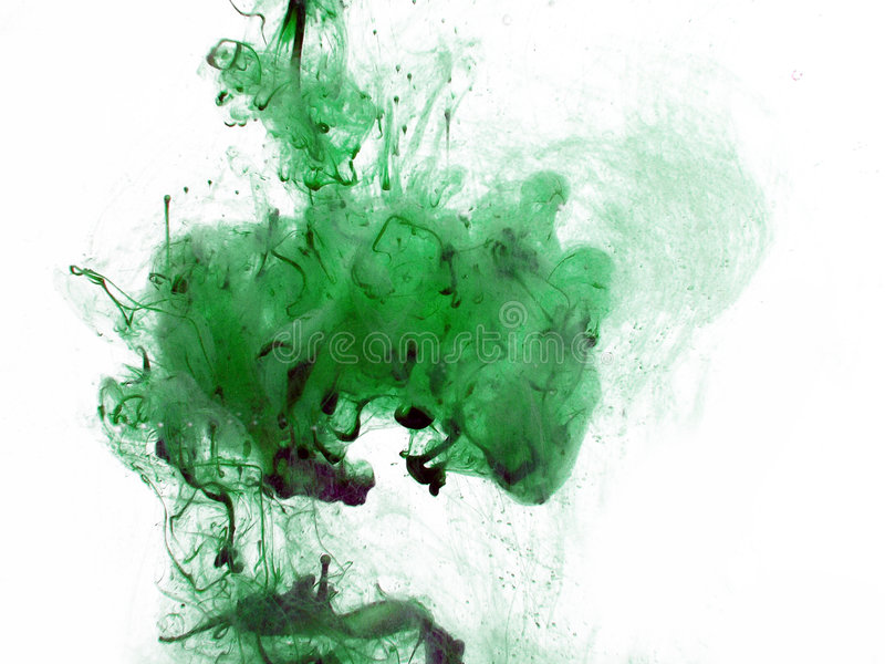 Inchiostro Verde Fotografia Stock Libera da Diritti