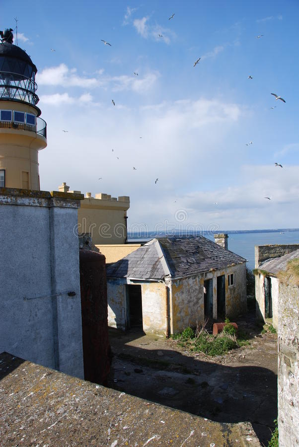Download Inchkeith Buildings stock photo. Image of shore, warning - 24911138