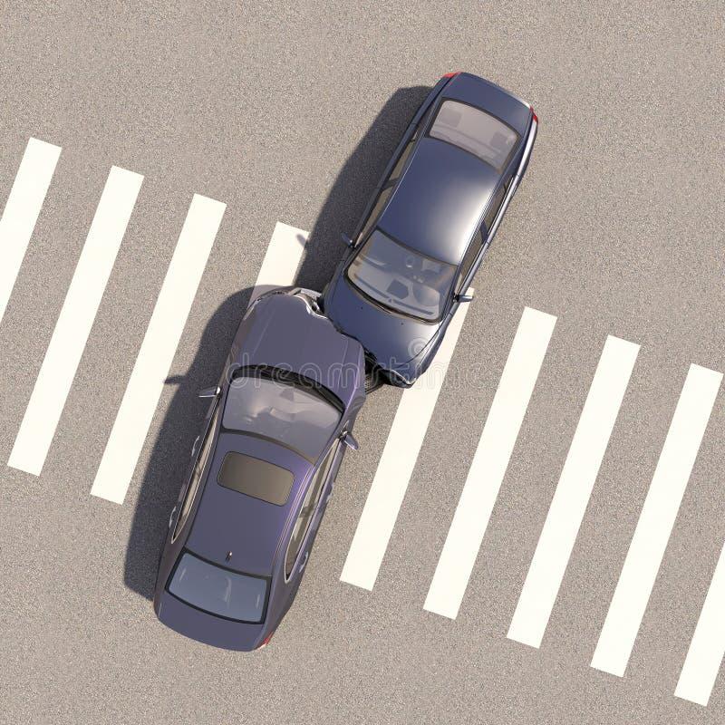 Incidente con due automobili illustrazione di stock