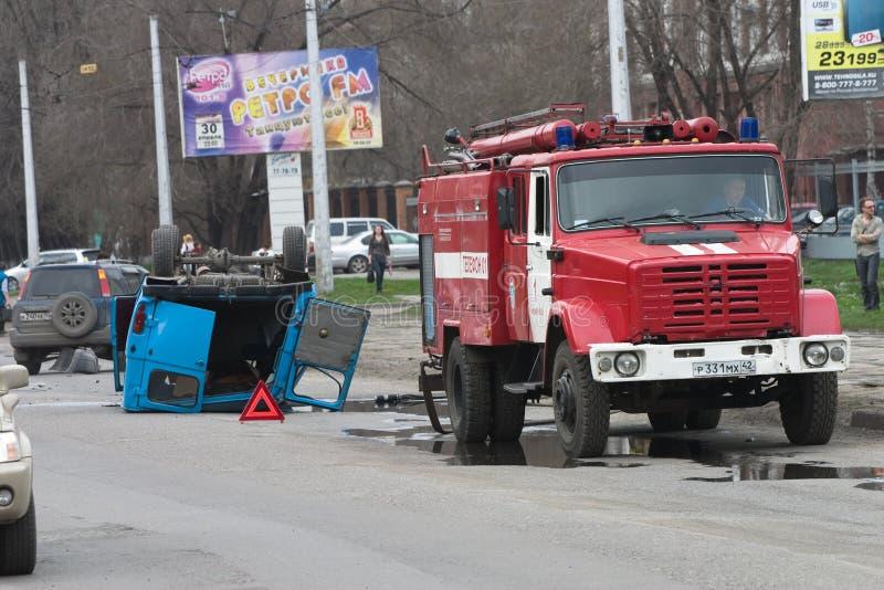 Incidente Del Camino Foto de archivo editorial