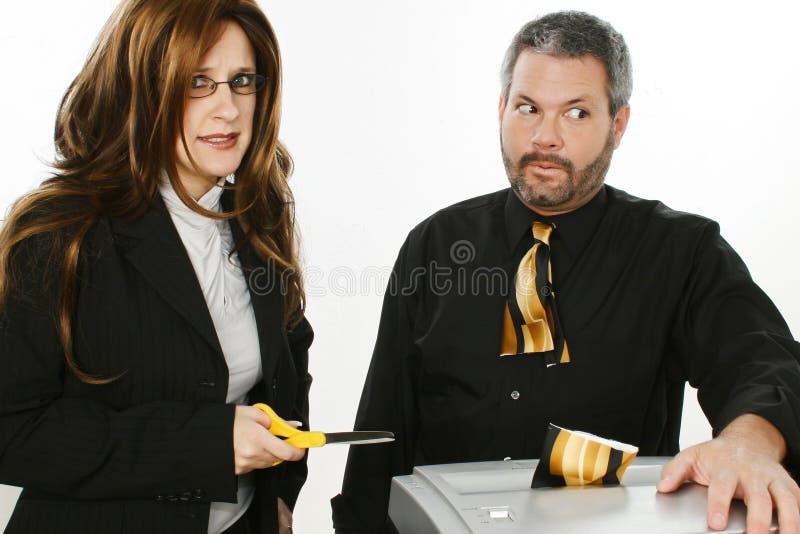 Incidente dell'ufficio fotografia stock libera da diritti