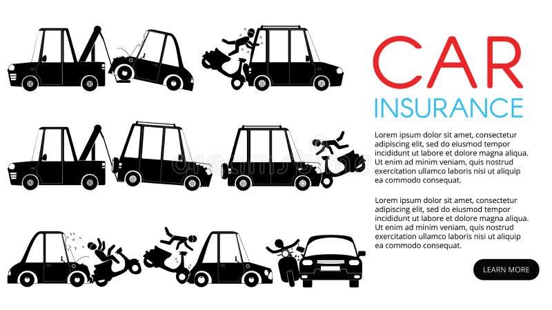 Incidente della motocicletta per assicurazione royalty illustrazione gratis
