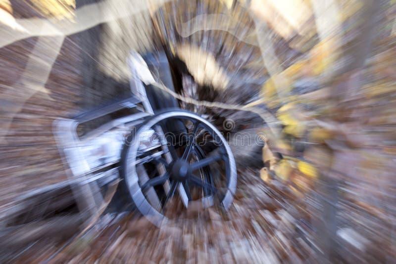 Incidente della sedia a rotelle fotografie stock libere da diritti