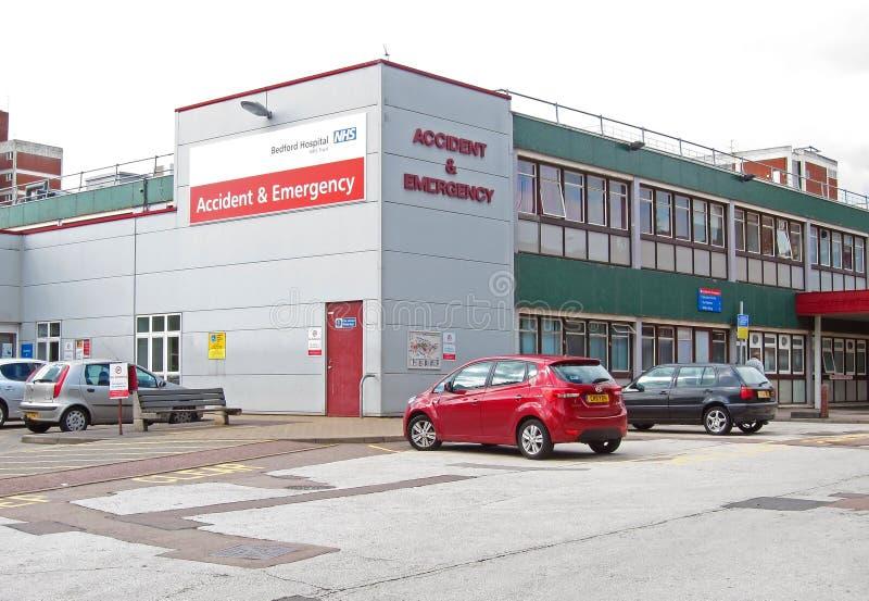Incidente ed emergenza dell'ospedale di Bedford. fotografia stock libera da diritti