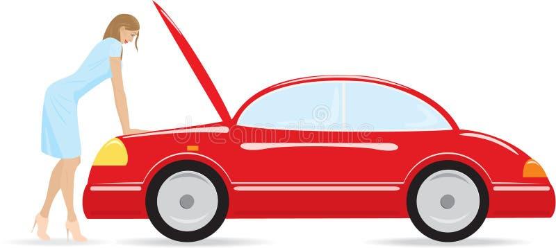 Incidente stradale illustrazione di stock