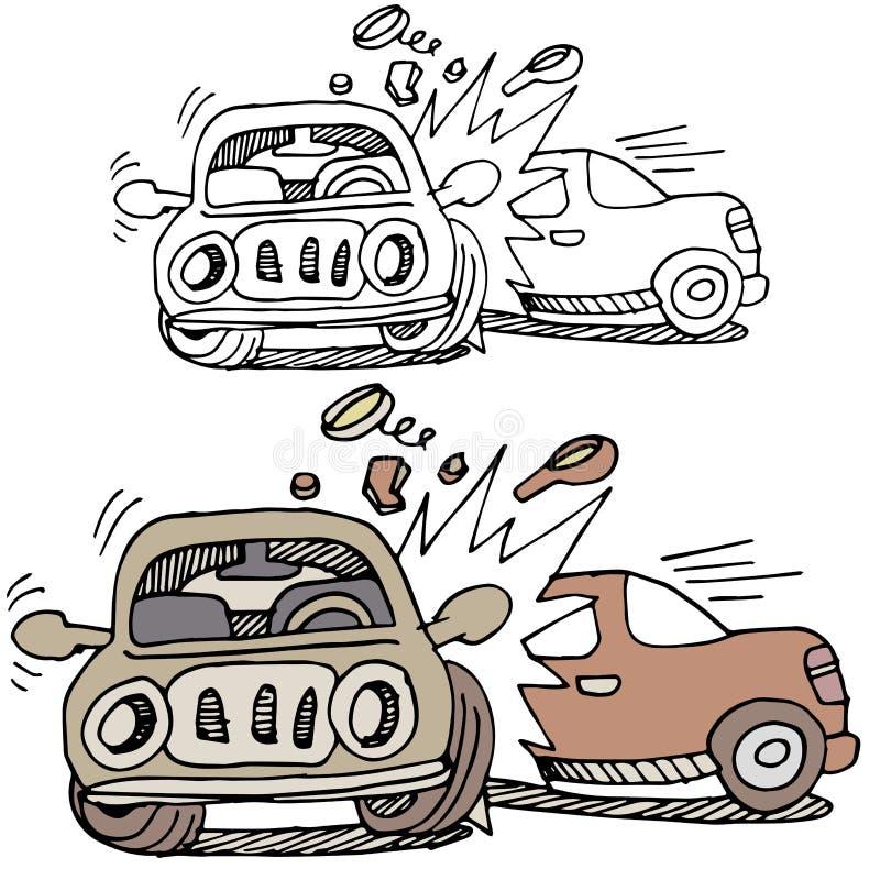 Incidente stradale royalty illustrazione gratis