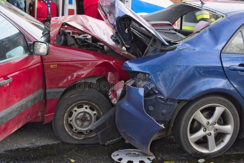 Incidente stradale immagini stock libere da diritti