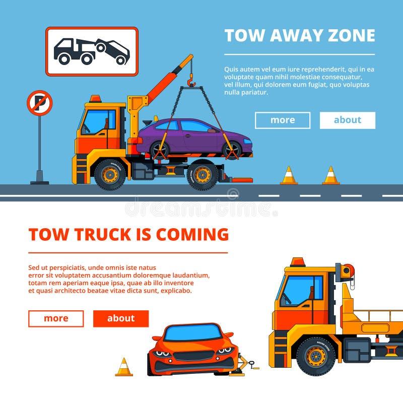 Incidente stradale in città Illustrazioni dell'evacuazione dell'automobile illustrazione di stock