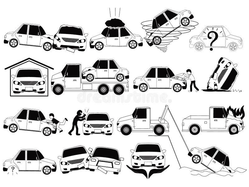 Incidente stradale ed incidenti royalty illustrazione gratis