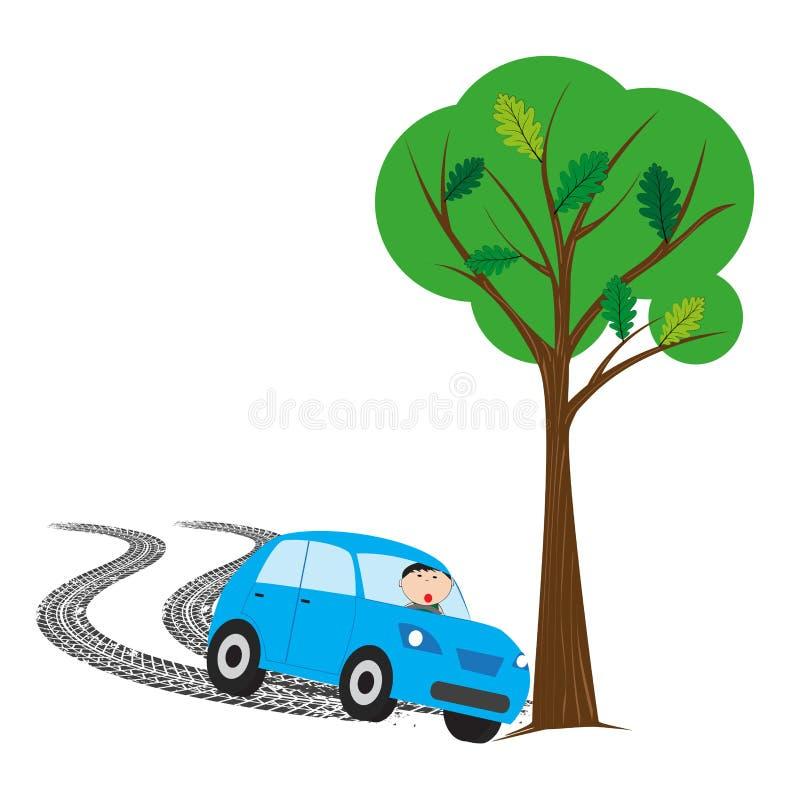 incidente stradale - illustrazione di vettore illustrazione vettoriale