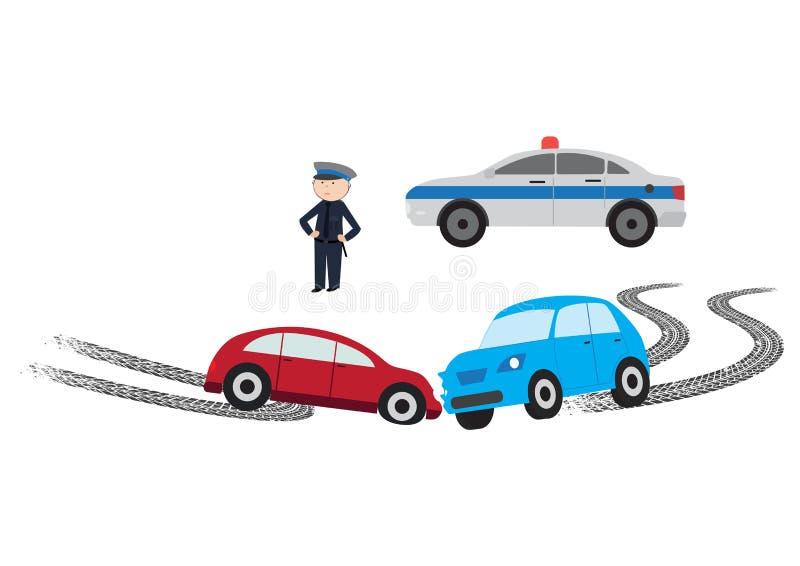 incidente stradale - illustrazione di vettore illustrazione di stock