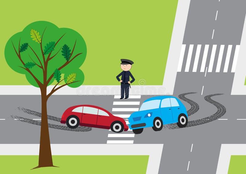 incidente stradale - illustrazione di vettore royalty illustrazione gratis