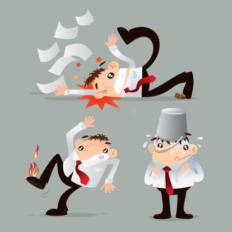Incidenti di incidente illustrazione di stock