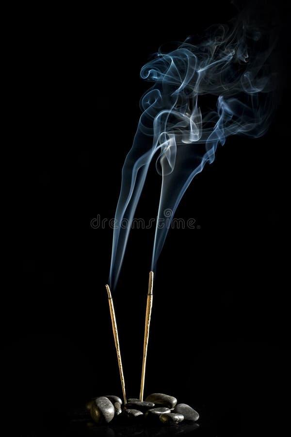 Incese ardiendo imagen de archivo