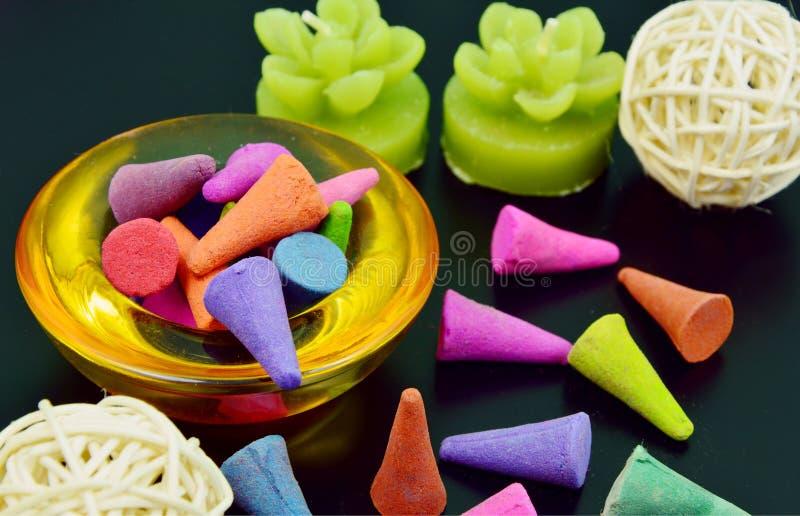 Incienso colorido imágenes de archivo libres de regalías
