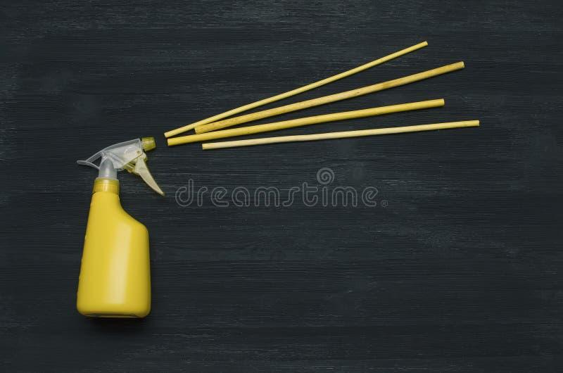 Incienso de los palillos de la botella y del aroma del rociador de la mano imagen de archivo