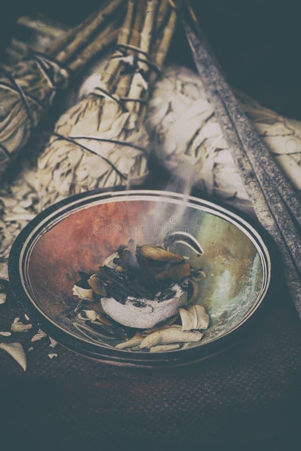 Incienso de Salvia Apiana fotos de archivo libres de regalías