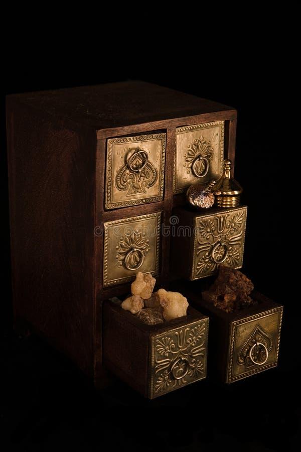 Incienso, oro y mirra foto de archivo libre de regalías