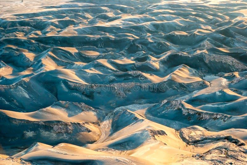Incinérez les dunes au plateau de Bromo de bâti, Indonésie photographie stock libre de droits