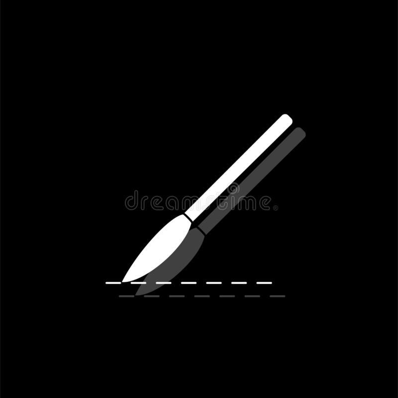 Incision surgery icon flat. Incision surgery. White flat simple icon with shadow royalty free illustration