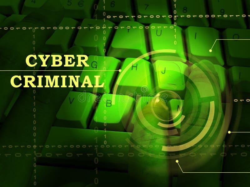 Incisione di Internet di Cybercriminal o illustrazione della frattura 3d immagine stock