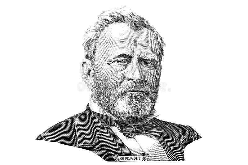 Incisione di Ulysses S. Grant immagine stock