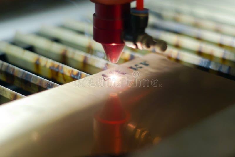Incisione laser automatica fotografie stock