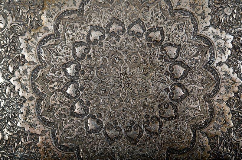 Incisione persiana del metallo fotografie stock libere da diritti