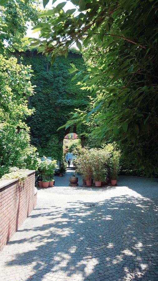 Incisione segreto di centro del posto di Milano fotografie stock