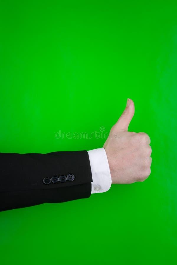 incitant la personne à signer des pouces vers le haut photos stock