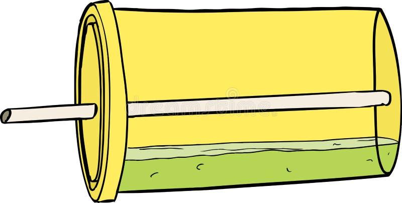 Incliné au-dessus de la tasse de soude illustration stock