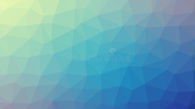 Inclinação azul abstrato do vetor lowploly do fundo de muitos triângulos para o uso no projeto ilustração stock