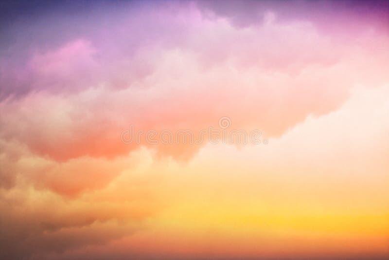 Inclinação colorido da nuvem fotos de stock royalty free