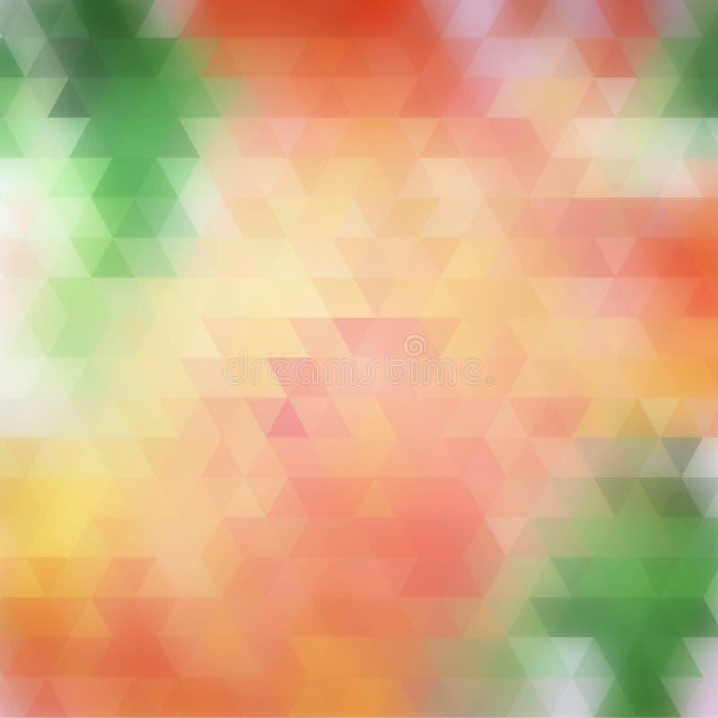 Inclinação da cor Formas triangulares Molde para a apresentação disposição para anunciar - Vektorgrafik ilustração royalty free