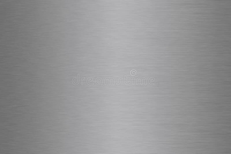 Inclinação de alumínio, de aço, de prata, escovado do fundo do metal foto de stock