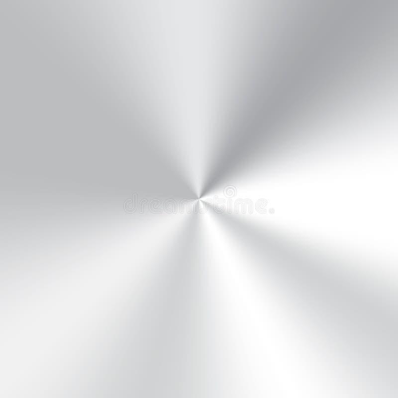 Inclinação de prata do cone ilustração stock