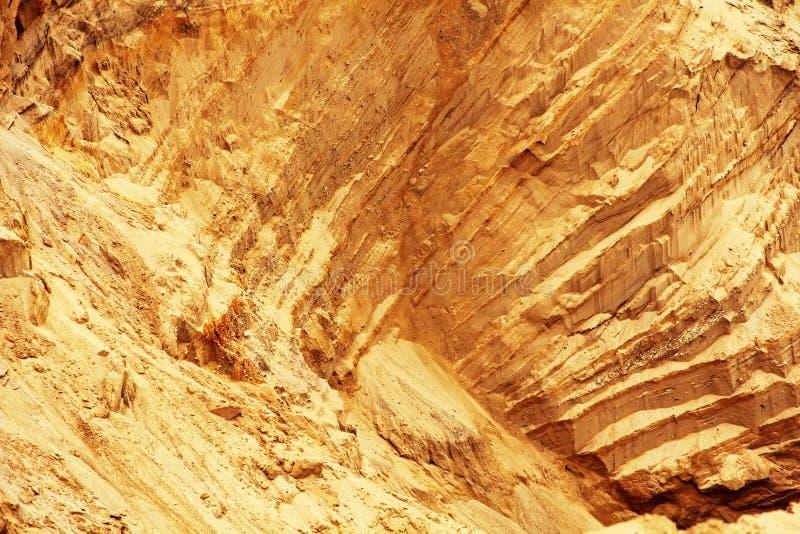 Inclinação de Sandy com textura mergulhada como o fundo abstrato foto de stock royalty free