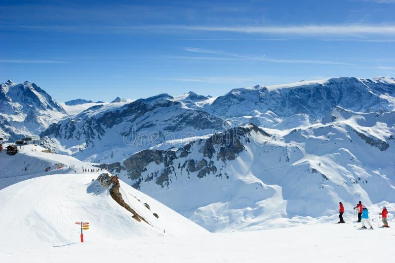 Inclinação do esqui fotos de stock