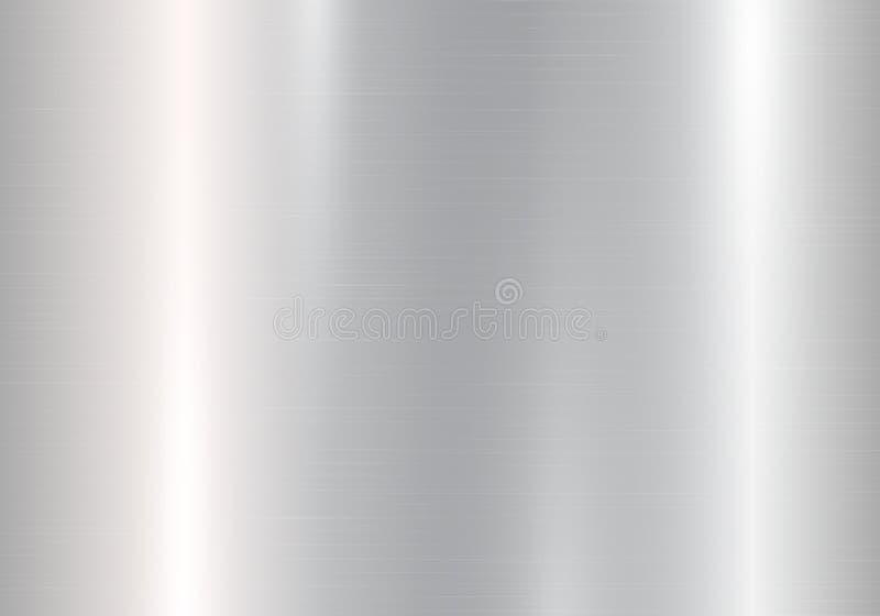 Inclinação do metal prateado ilustração royalty free