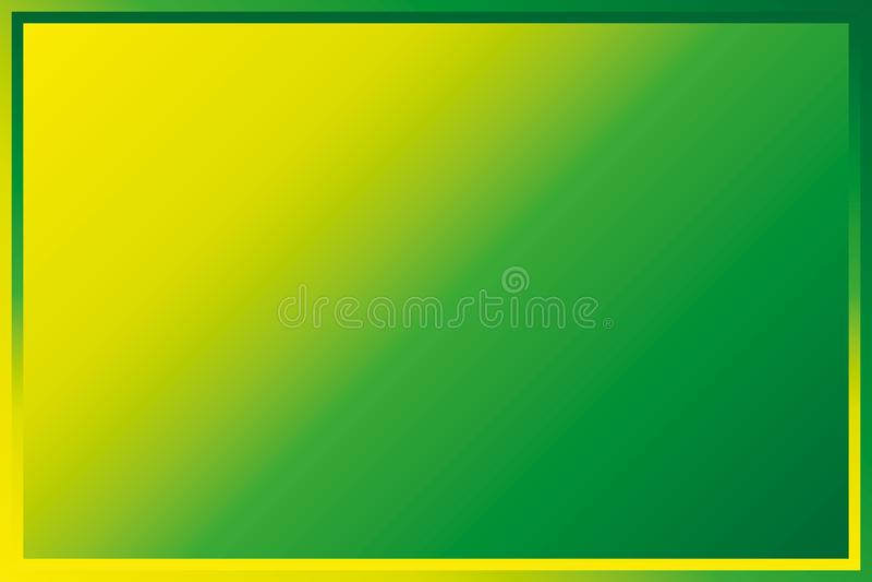 Inclinação linear verde-amarelo ilustração do vetor
