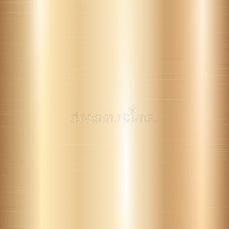 Inclinação metálico do ouro ilustração do vetor